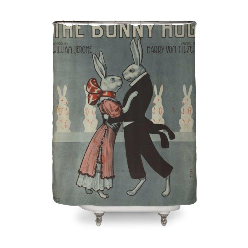 Bunny Hug Home Shower Curtain by RNF's Artist Shop