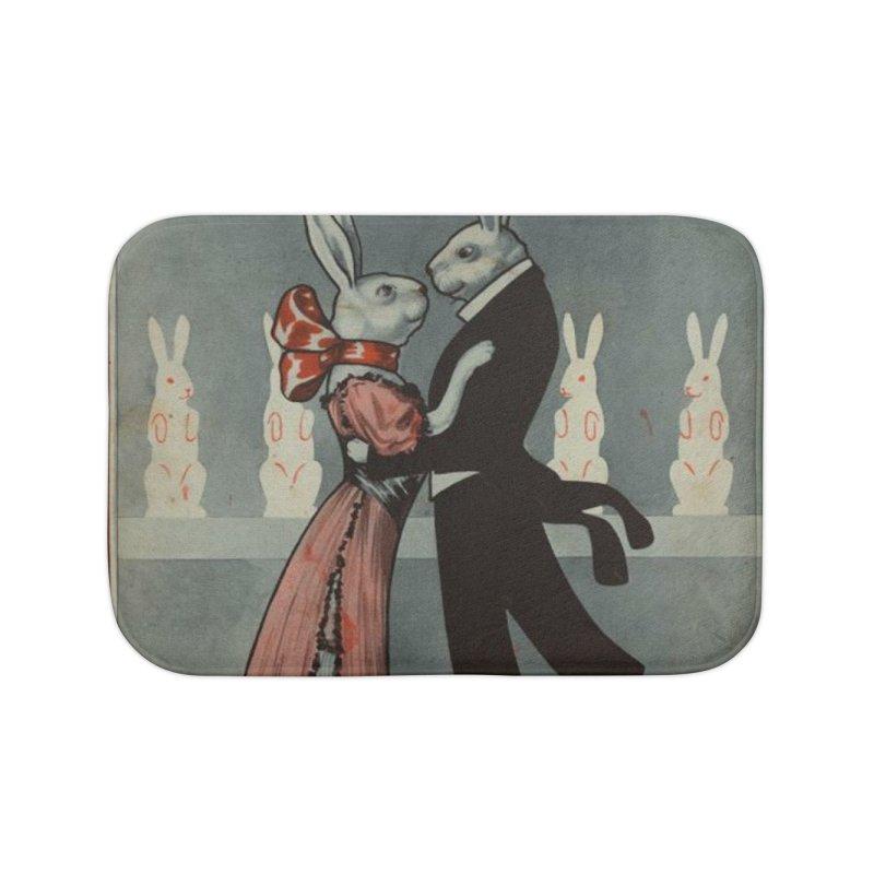 Bunny Hug Home Bath Mat by RNF's Artist Shop
