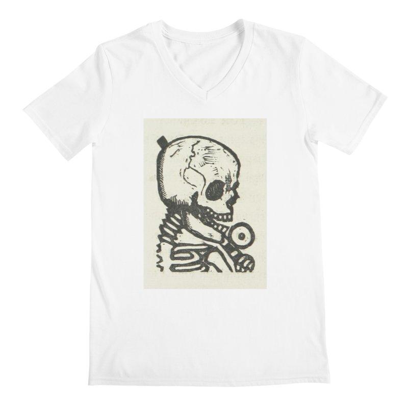 Skeleton Men's V-Neck by RNF's Artist Shop