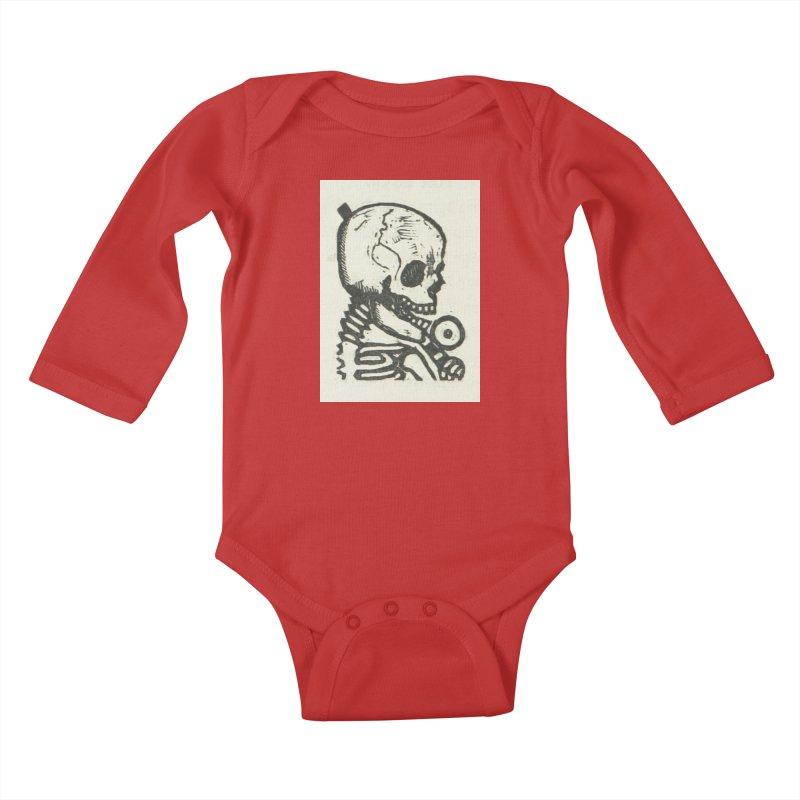 Skeleton Kids Baby Longsleeve Bodysuit by RNF's Artist Shop