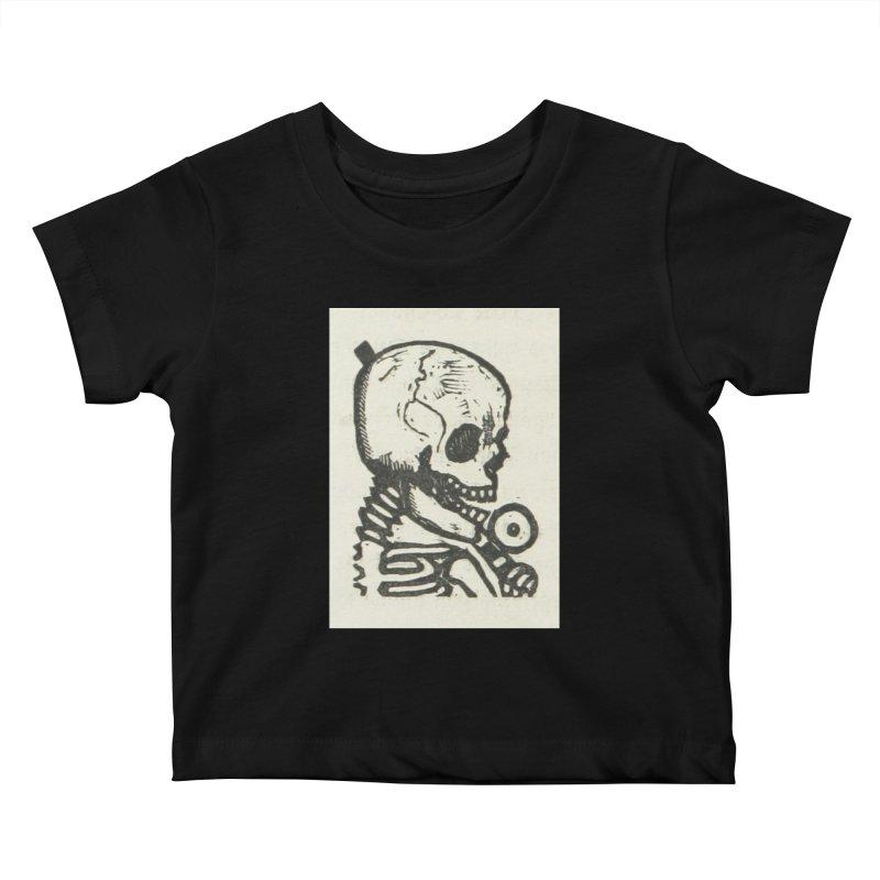 Skeleton Kids Baby T-Shirt by RNF's Artist Shop