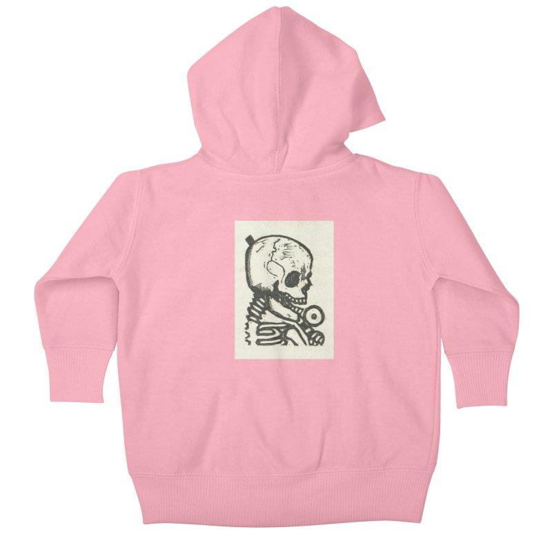 Skeleton Kids Baby Zip-Up Hoody by RNF's Artist Shop