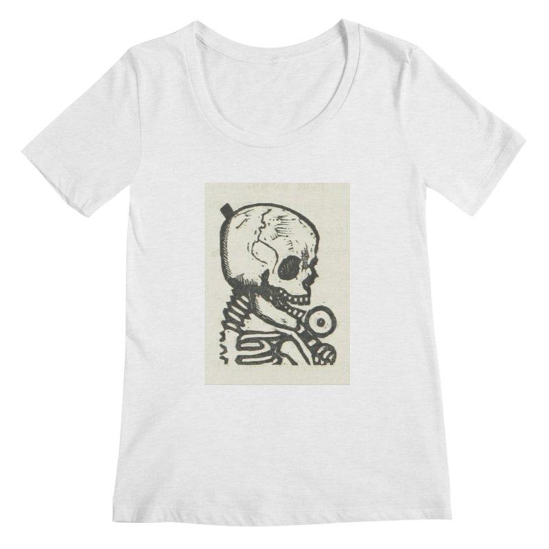 Skeleton Women's Regular Scoop Neck by RNF's Artist Shop