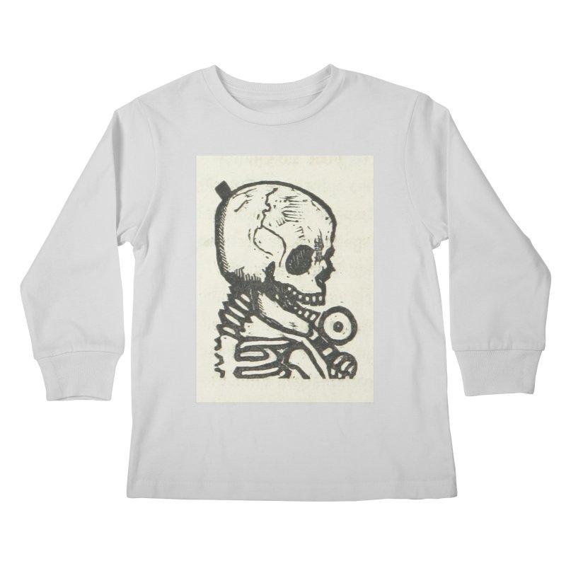 Skeleton Kids Longsleeve T-Shirt by RNF's Artist Shop