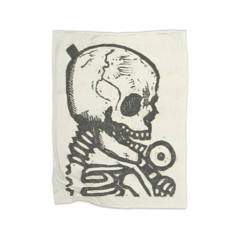 Skeleton Home Fleece Blanket Blanket by RNF's Artist Shop