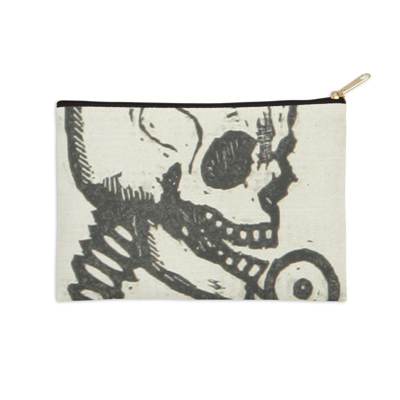 Skeleton Accessories Zip Pouch by RNF's Artist Shop