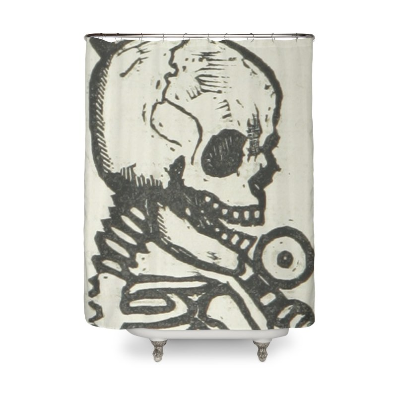Skeleton Home Shower Curtain by RNF's Artist Shop