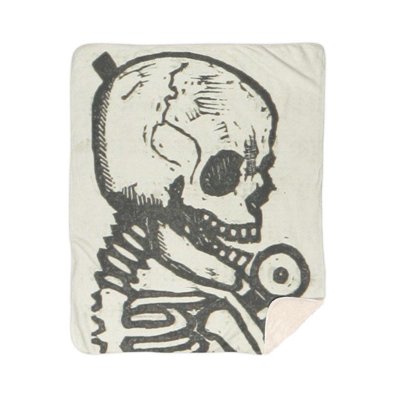Skeleton Home Sherpa Blanket Blanket by RNF's Artist Shop