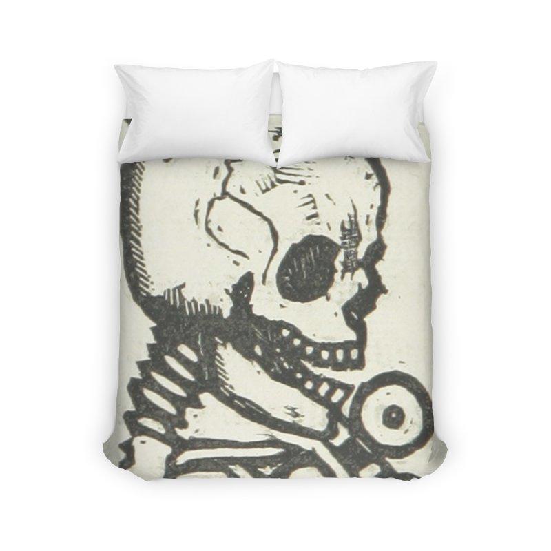 Skeleton Home Duvet by RNF's Artist Shop