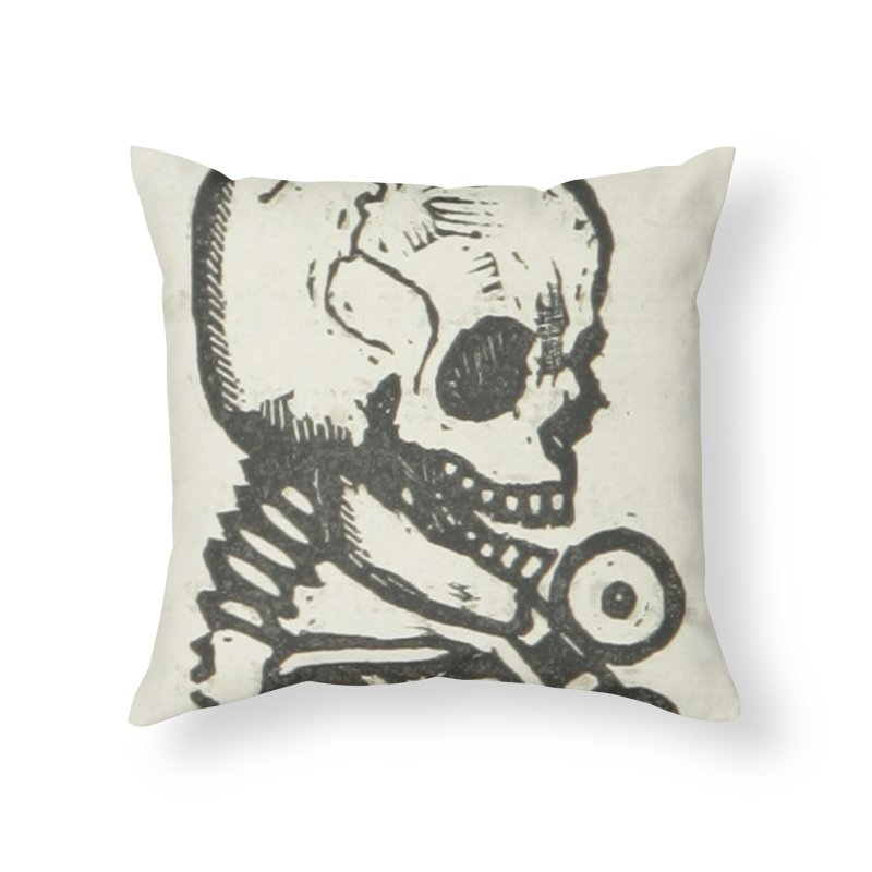 Skeleton Home Throw Pillow by RNF's Artist Shop