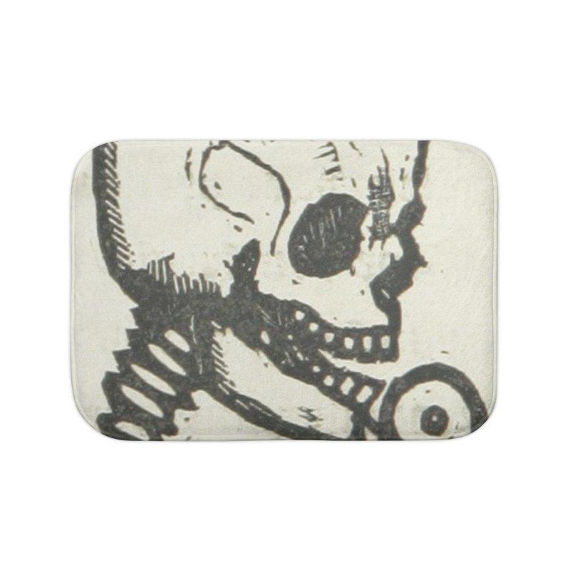 Skeleton Home Bath Mat by RNF's Artist Shop