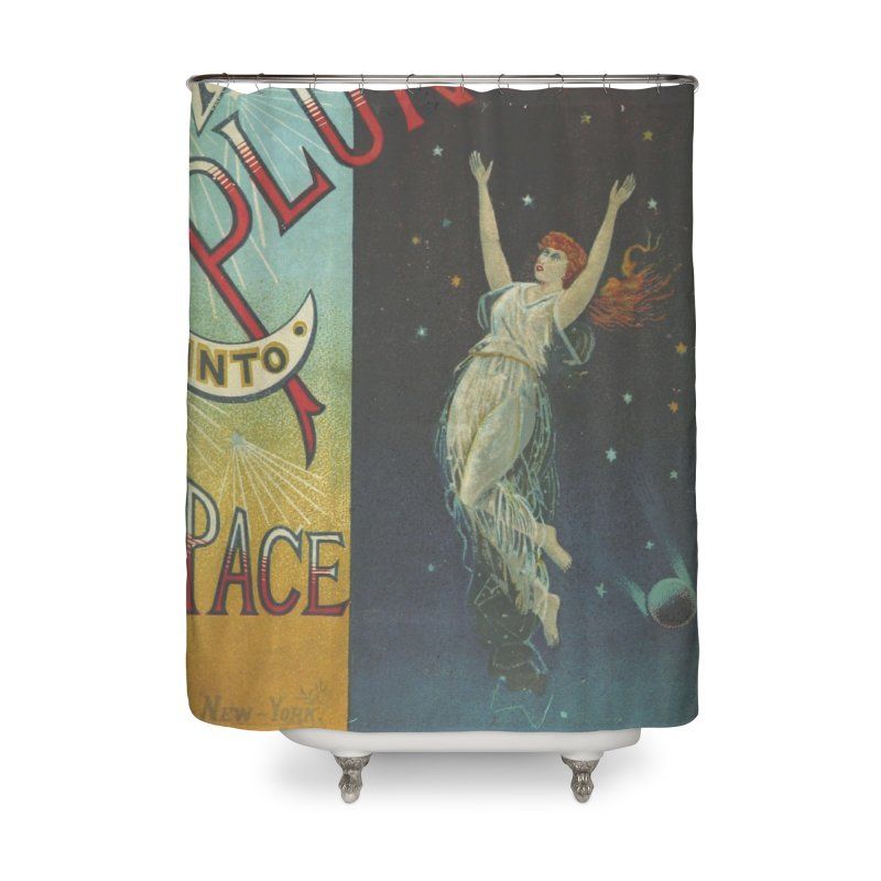 Space Plunge Home Shower Curtain by RNF's Artist Shop