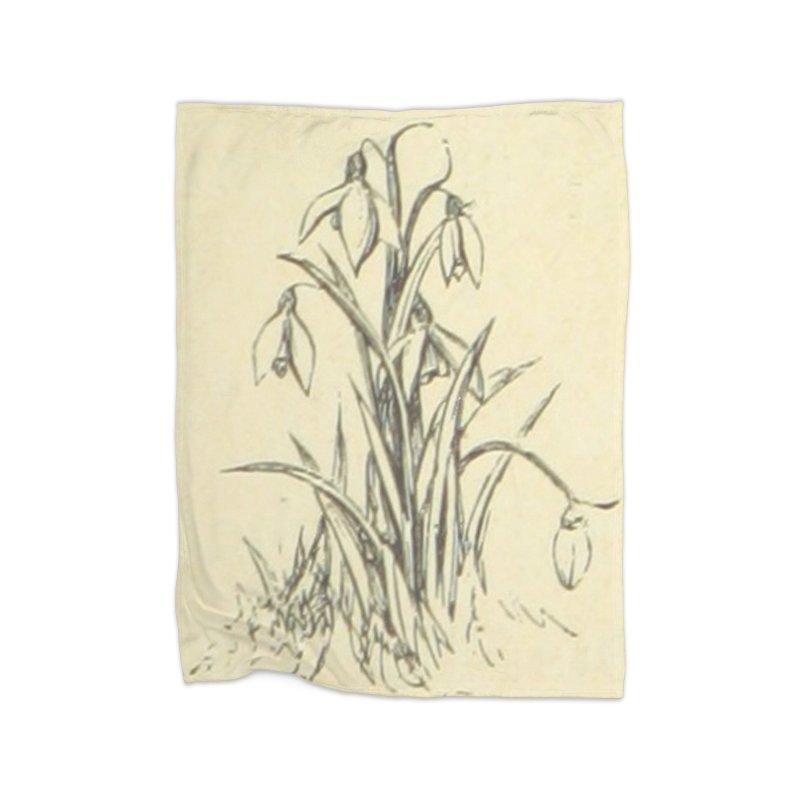 Floral Home Fleece Blanket Blanket by RNF's Artist Shop