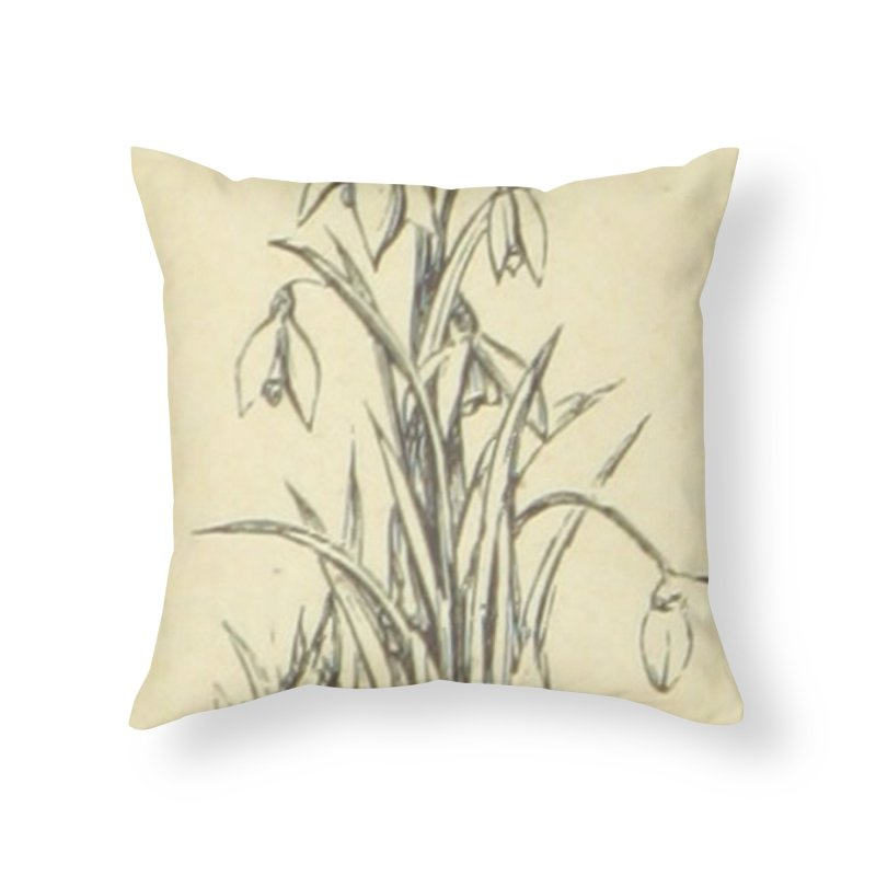 Floral Home Throw Pillow by RNF's Artist Shop