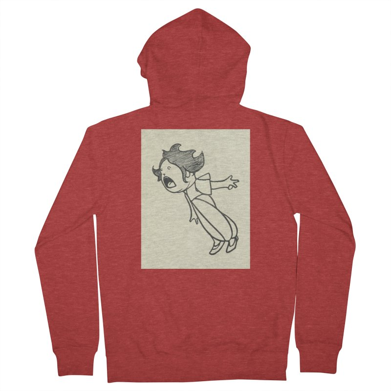 Yelling Women's French Terry Zip-Up Hoody by RNF's Artist Shop