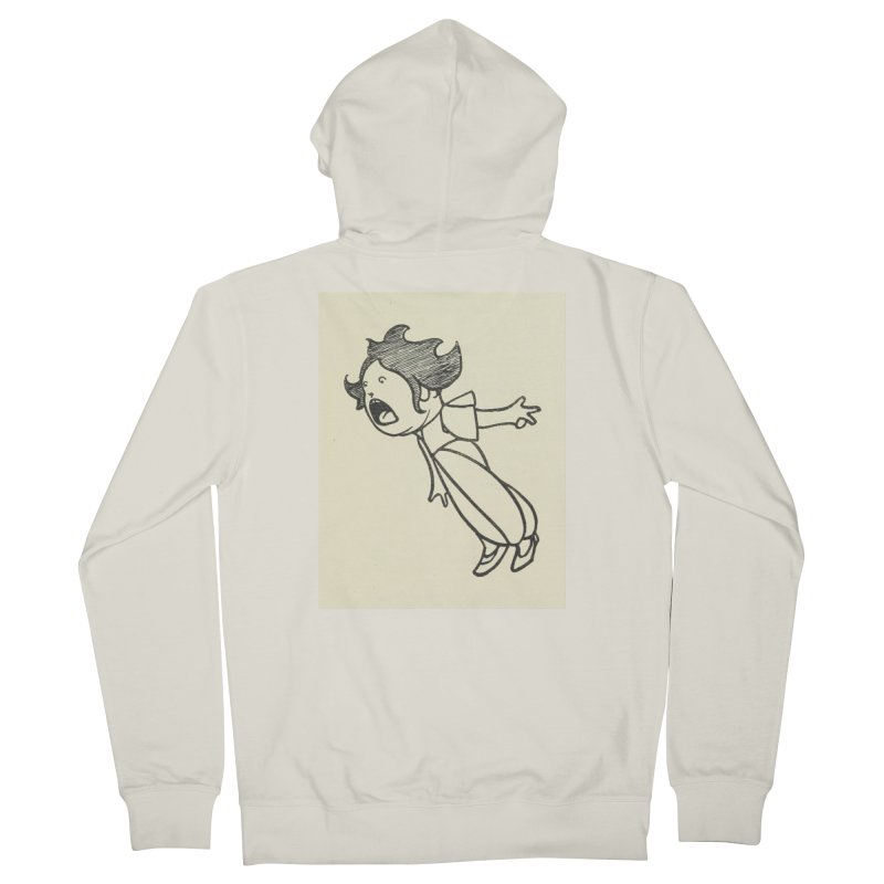 Yelling Men's French Terry Zip-Up Hoody by RNF's Artist Shop