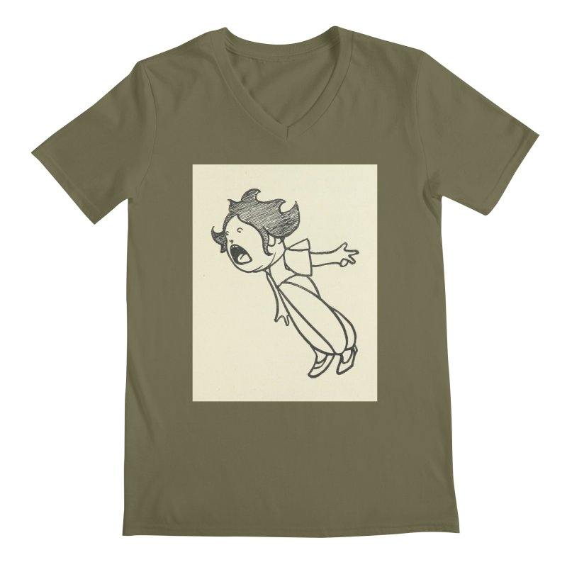 Yelling Men's Regular V-Neck by RNF's Artist Shop
