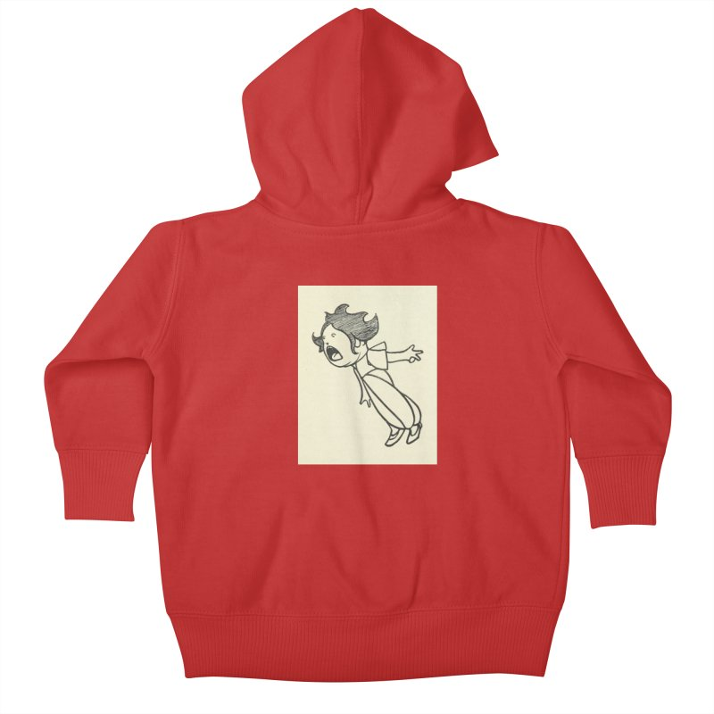 Yelling Kids Baby Zip-Up Hoody by RNF's Artist Shop