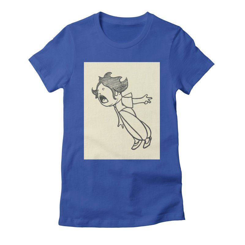 Yelling Women's Fitted T-Shirt by RNF's Artist Shop
