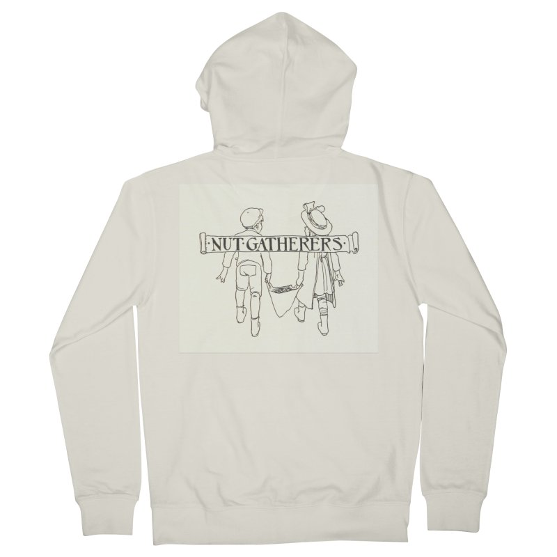 Nut Gatherers Men's French Terry Zip-Up Hoody by RNF's Artist Shop