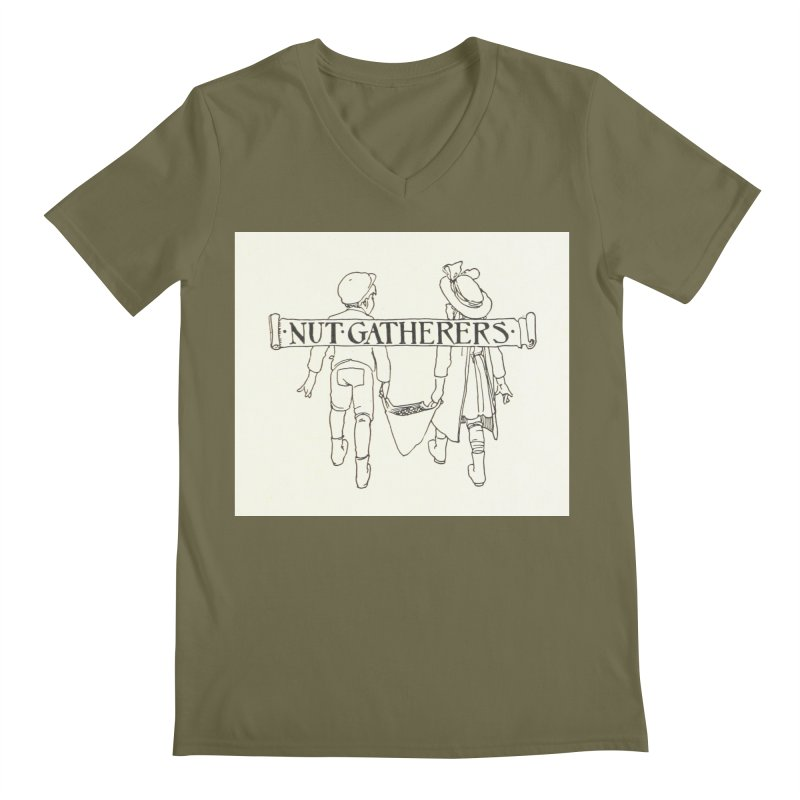 Nut Gatherers Men's Regular V-Neck by RNF's Artist Shop