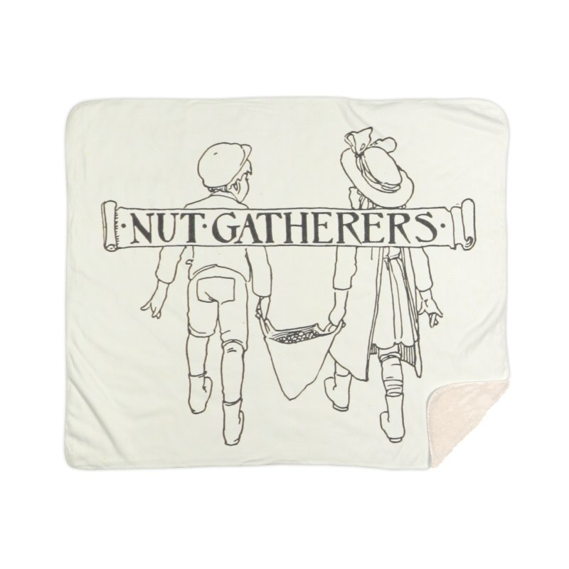 Nut Gatherers Home Sherpa Blanket Blanket by RNF's Artist Shop