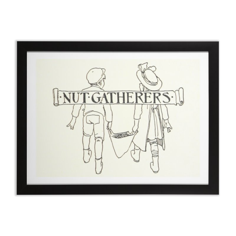 Nut Gatherers Home Framed Fine Art Print by RNF's Artist Shop