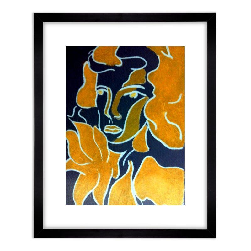 In Orange Home Framed Fine Art Print by RNF's Artist Shop