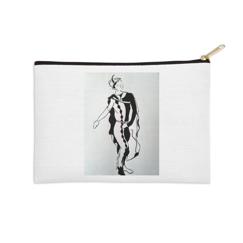 Black and White Accessories Zip Pouch by RNF's Artist Shop