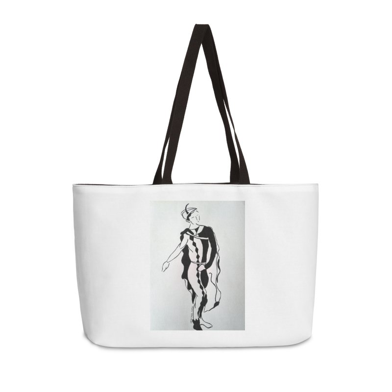 Black and White Accessories Weekender Bag Bag by RNF's Artist Shop