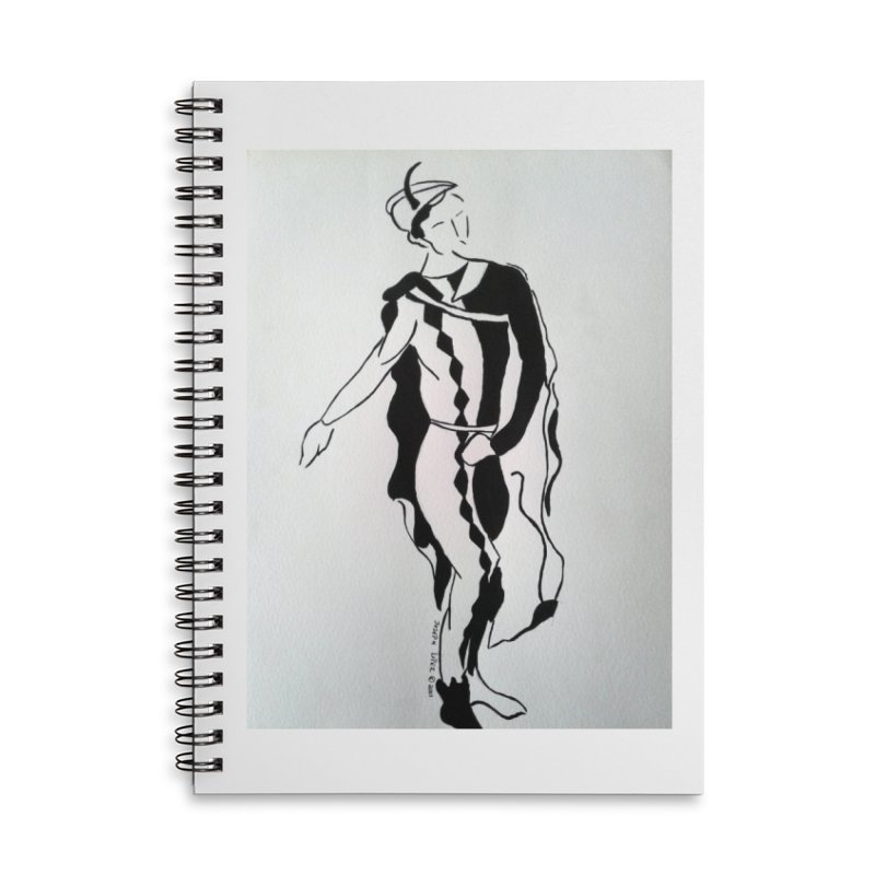 Black and White Accessories Lined Spiral Notebook by RNF's Artist Shop
