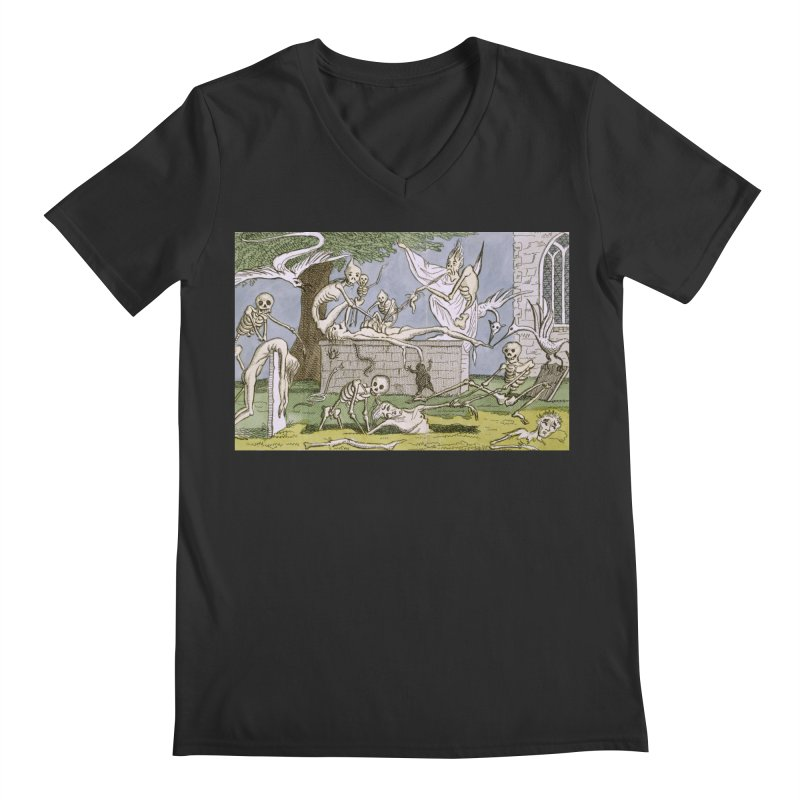 The Graveyard Dance Men's Regular V-Neck by RNF's Artist Shop