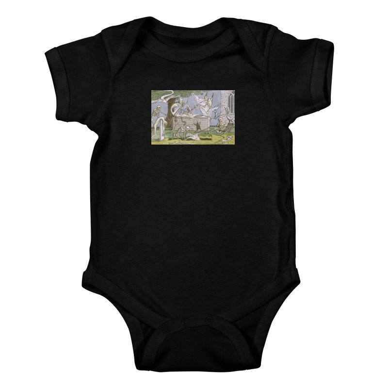 The Graveyard Dance Kids Baby Bodysuit by RNF's Artist Shop