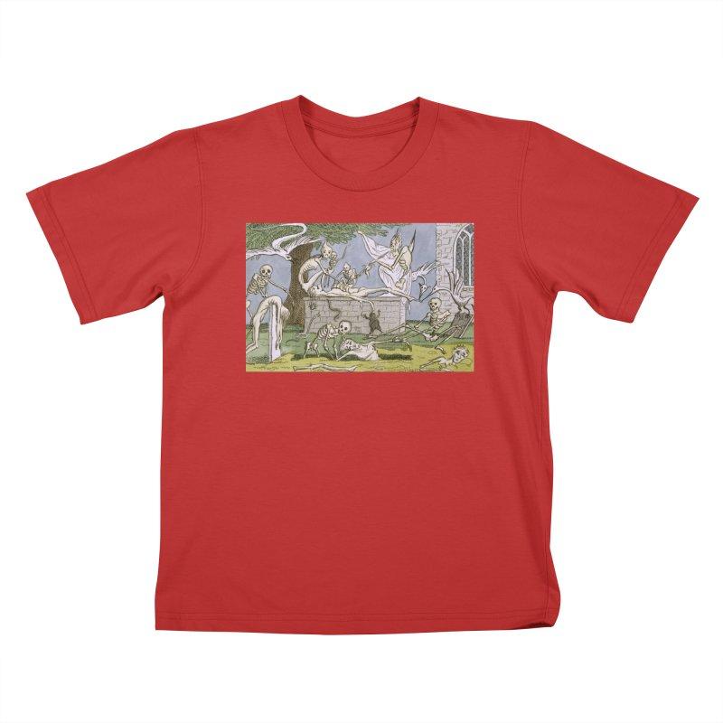 The Graveyard Dance Kids T-Shirt by RNF's Artist Shop