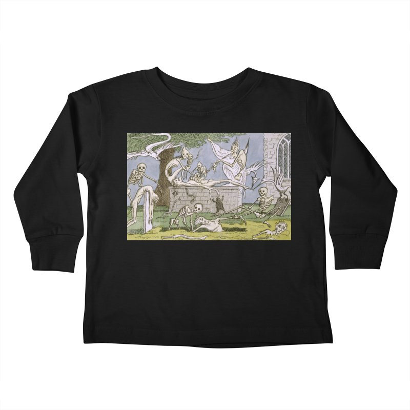 The Graveyard Dance Kids Toddler Longsleeve T-Shirt by RNF's Artist Shop