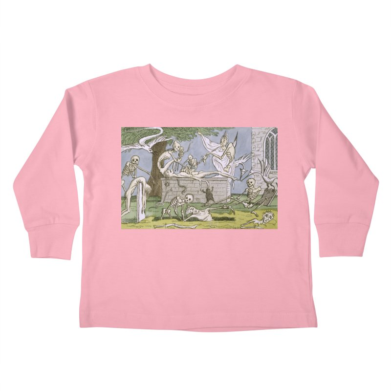 The Graveyard Dance Kids Toddler Longsleeve T-Shirt by RNF's Artist Shop