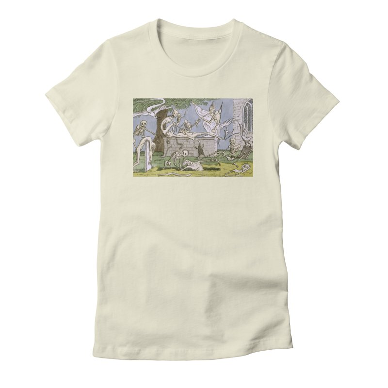 The Graveyard Dance Women's Fitted T-Shirt by RNF's Artist Shop