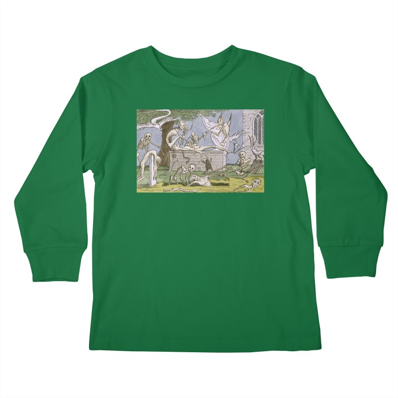 The Graveyard Dance Kids Longsleeve T-Shirt by RNF's Artist Shop