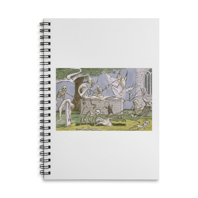 The Graveyard Dance Accessories Lined Spiral Notebook by RNF's Artist Shop