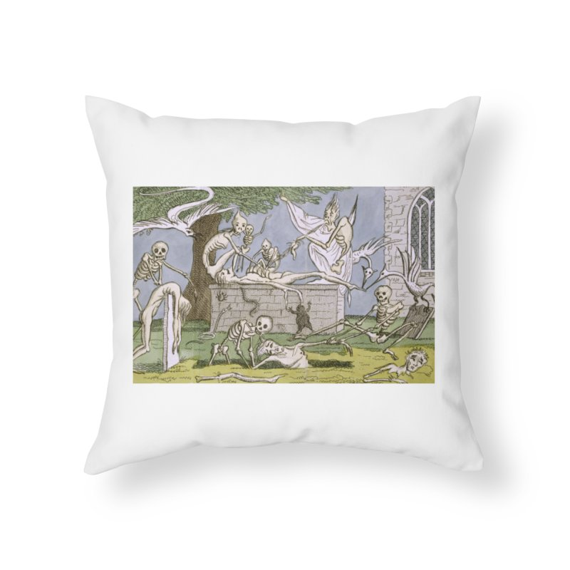 The Graveyard Dance Home Throw Pillow by RNF's Artist Shop