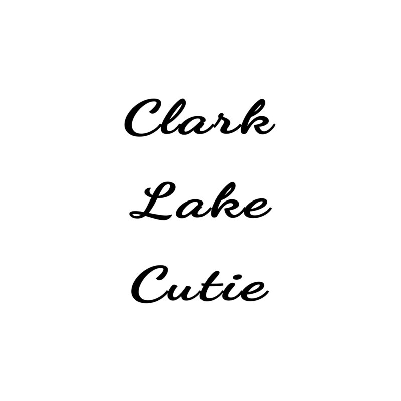 Clark Lake Cutie Script Accessories Bag by RNF's Artist Shop
