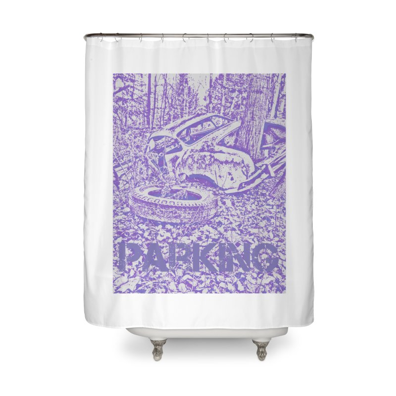 Parking Home Shower Curtain by RNF's Artist Shop