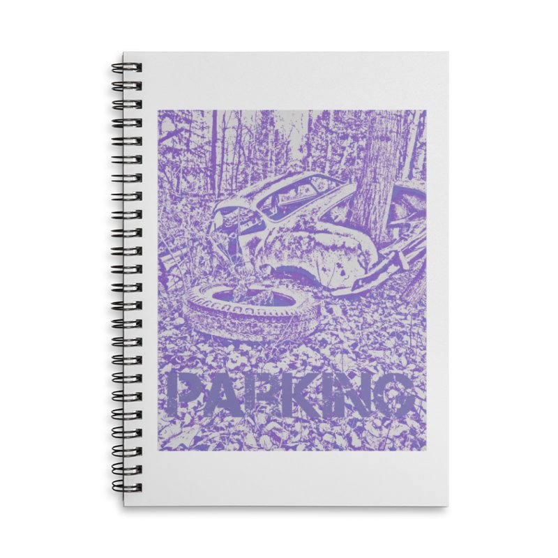 Parking Accessories Lined Spiral Notebook by RNF's Artist Shop