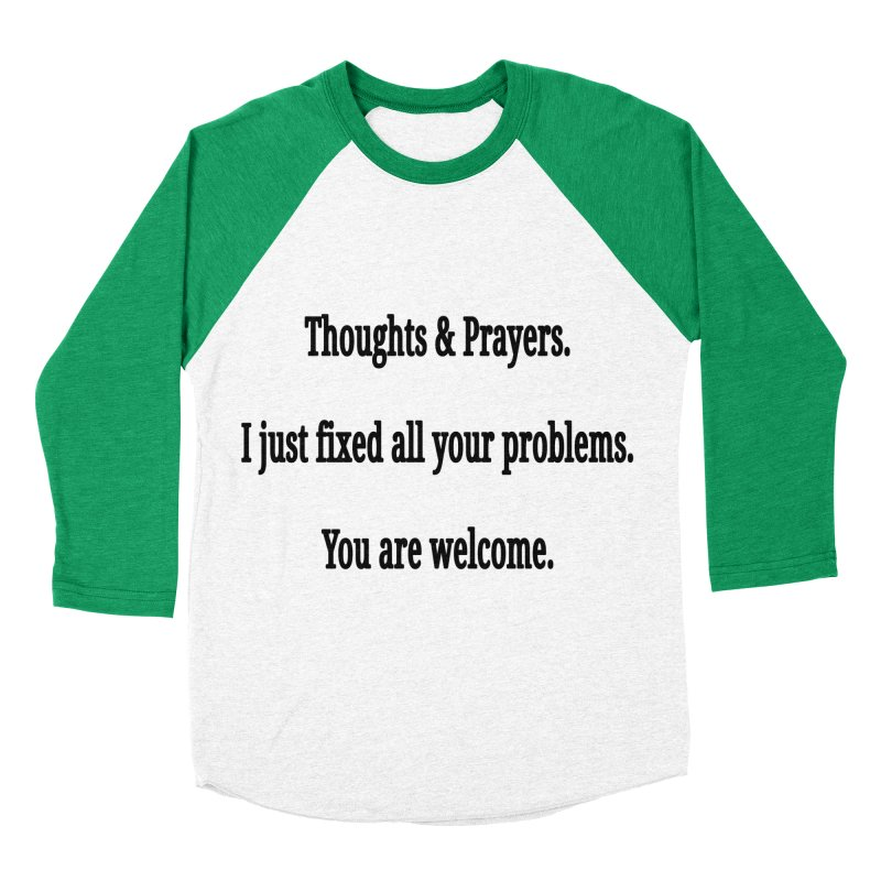 Thoughts and Prayers Men's Baseball Triblend Longsleeve T-Shirt by RNF's Artist Shop