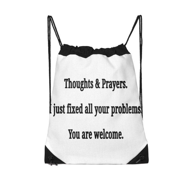 Thoughts and Prayers Accessories Bag by RNF's Artist Shop