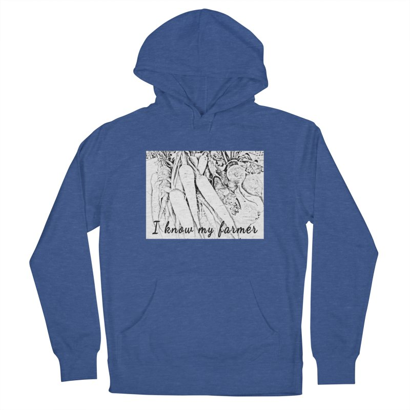 I know my farmer Men's French Terry Pullover Hoody by RNF's Artist Shop