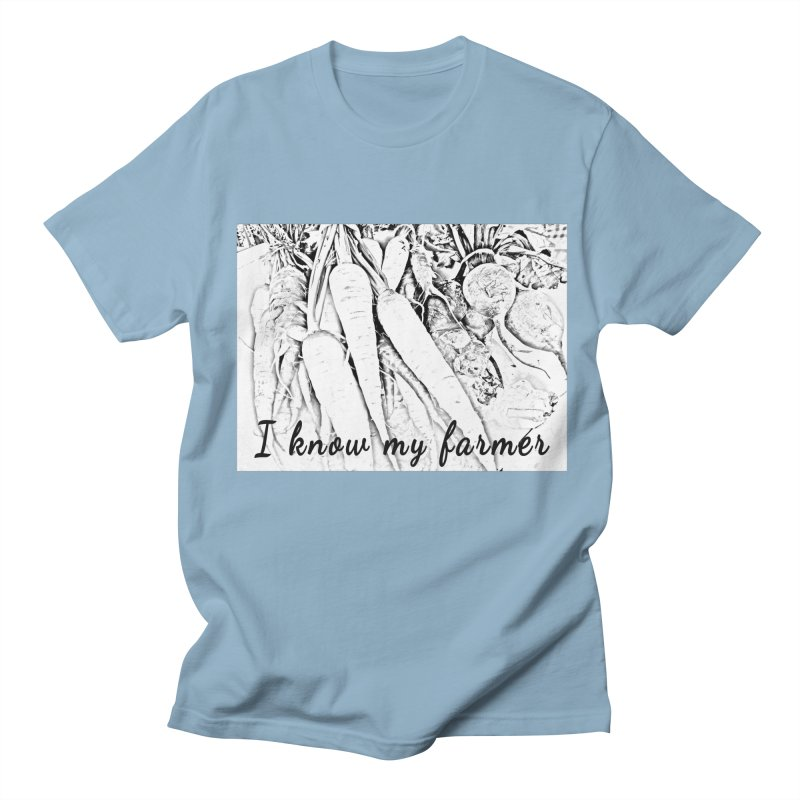 I know my farmer Men's Regular T-Shirt by RNF's Artist Shop