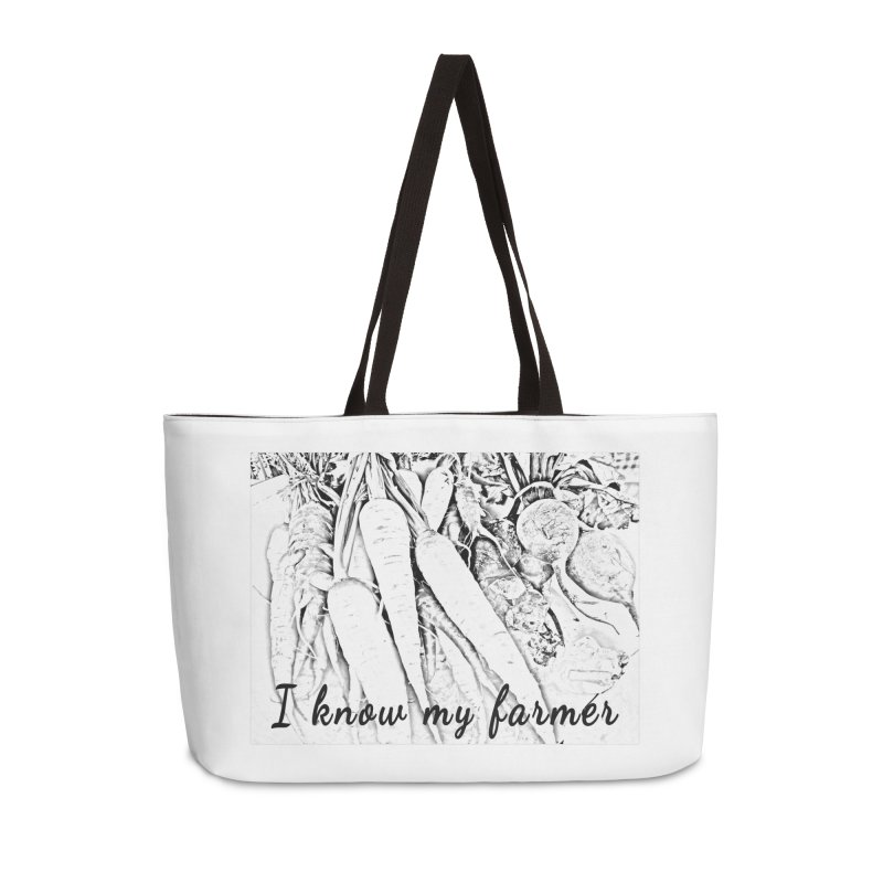 I know my farmer Accessories Bag by RNF's Artist Shop