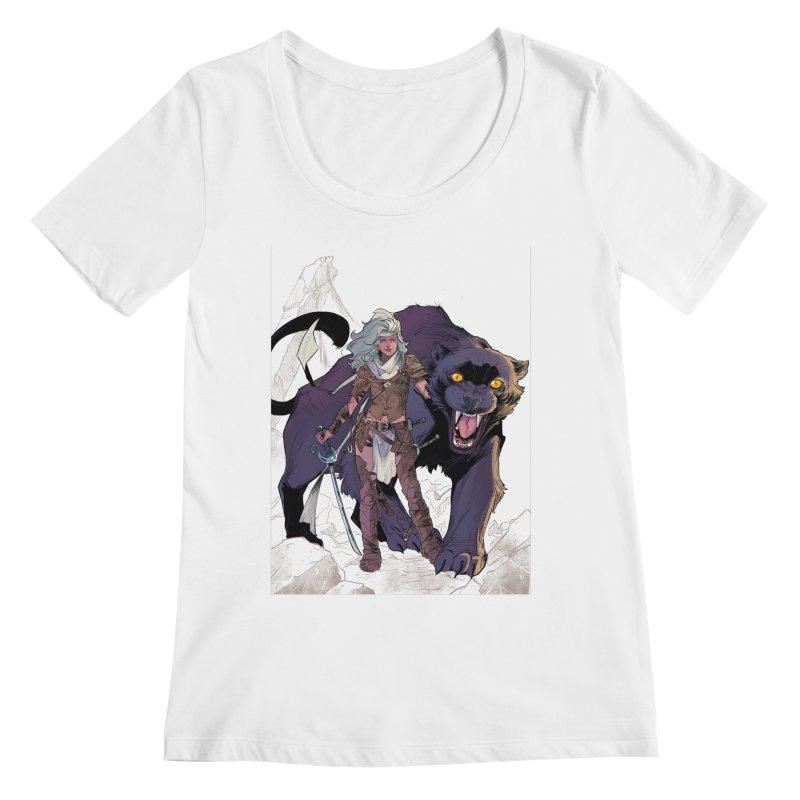 ROSE T-Shirt Women's Regular Scoop Neck by Rose