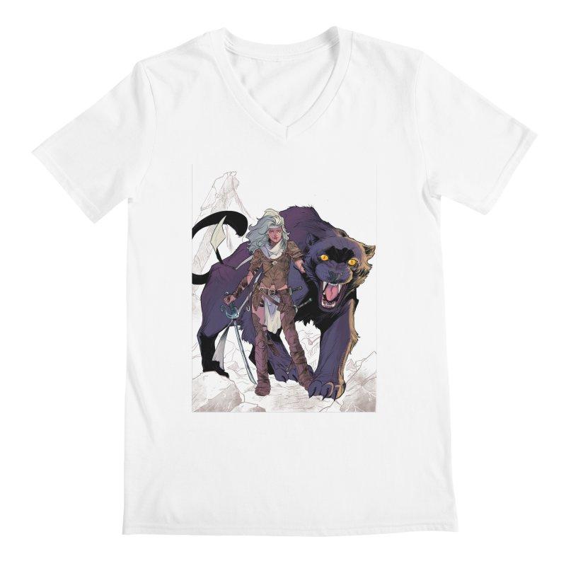ROSE T-Shirt Men's Regular V-Neck by ROSEFinch's Artist Shop